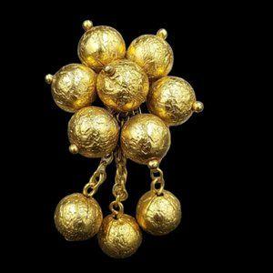 Vintage Monet Dangling Bead Dress Clip